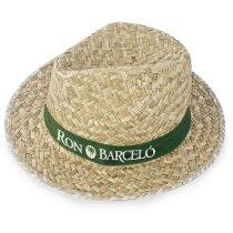 Sombrero color verdoso ala corta barato