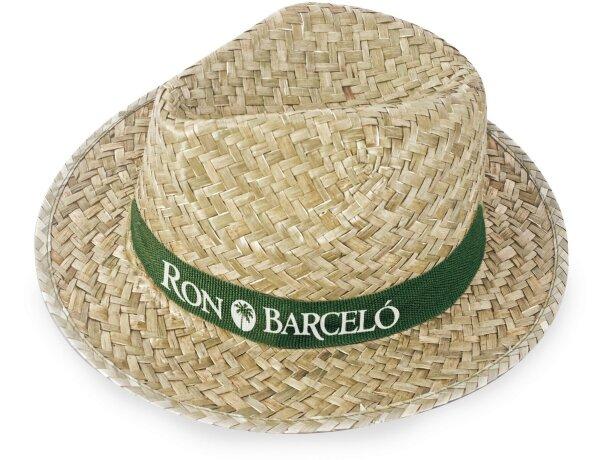 Sombrero color verdoso ala corta personalizado