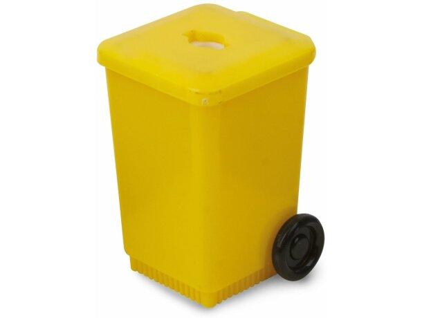 Sacapuntas contenedor personalizado amarillo