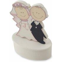 Cajita de boda con imñan personalizado