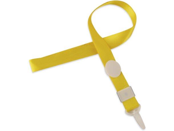 Lanyard personalizado con cierre ajustable amarillo