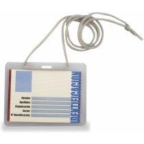 Identificador rígido con cordón personalizado