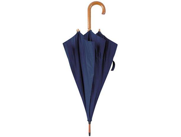Paraguas con mango de acero azul marino