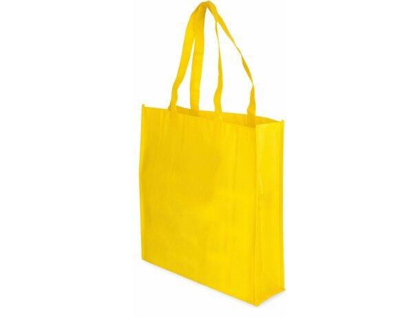 Bolsa non woven laminado color mate amarilla