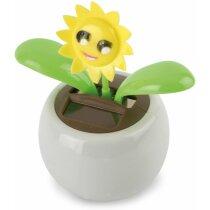 Maceta eco solar con flor girasol barata