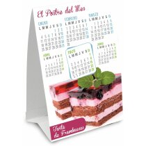 Calendario a todo color sobremesa triangular personalizado