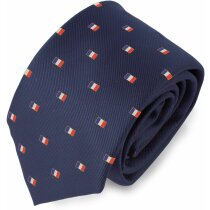 Corbata con bandera de Francia personalizada