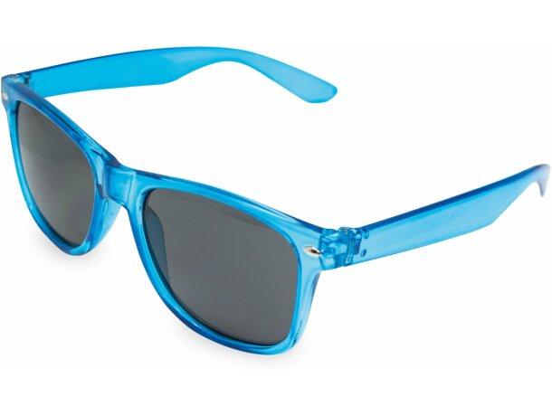 Gafas de sol transparentes personalizada azul