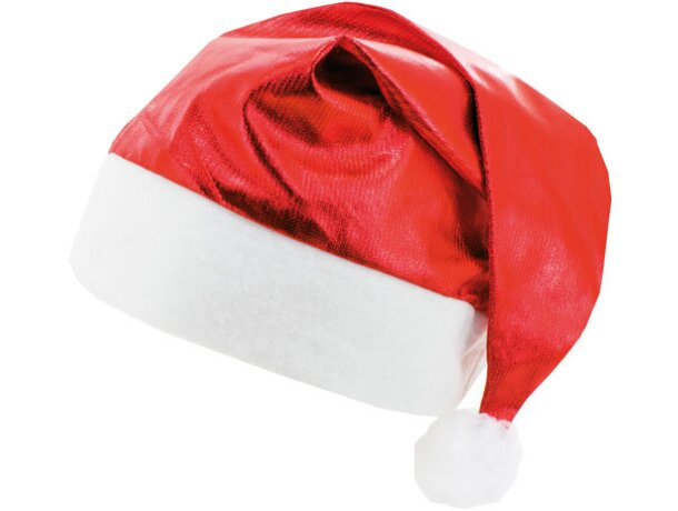 Gorro de navidad metalizado rojo