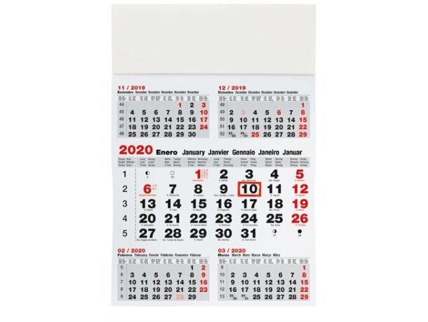 Calendario de pared para 5 Meses barato