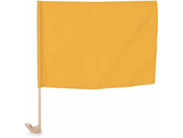 Bandera para coche de poliéster amarilla
