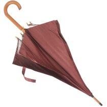 Paraguas de paseo clásico personalizado burdeos