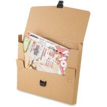 Maletin de cartón con asa y cierre automático personalizado