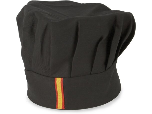 Gorro de algodón de cocina en varios colores Negro bandera
