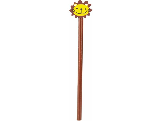 Lápiz de madera marrón con león barato