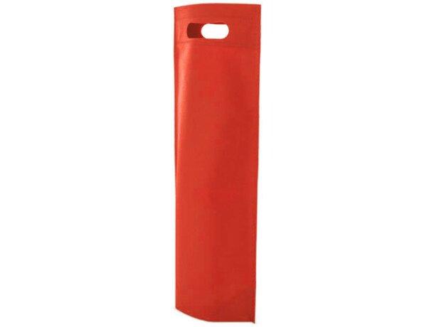 Bolsa de non woven para botella rojo
