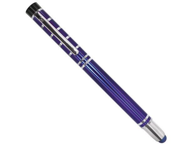 Bolígrafo de metal con lápiz táctil pierre deline barato azul