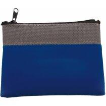 Monedero sencillo con llavero personalizado azul