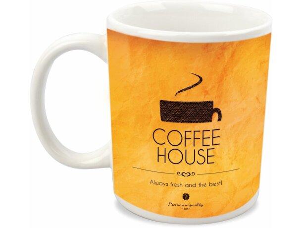 Taza de cerámica de cafe para sublimación blanca