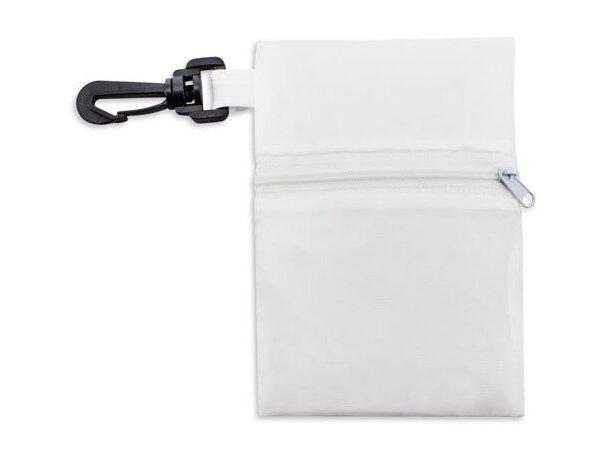 Bolsa plegable con cremallera y funda barata blanco