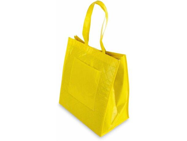 Bolsa de non woven plastificado amarilla