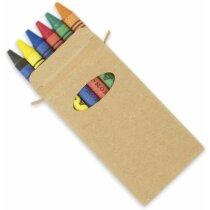 Caja de cartón de 6 ceras personalizada