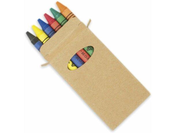 Caja de cartón de 6 ceras personalizado