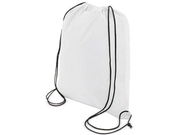 Bolsa mochila con cordones económica blanco