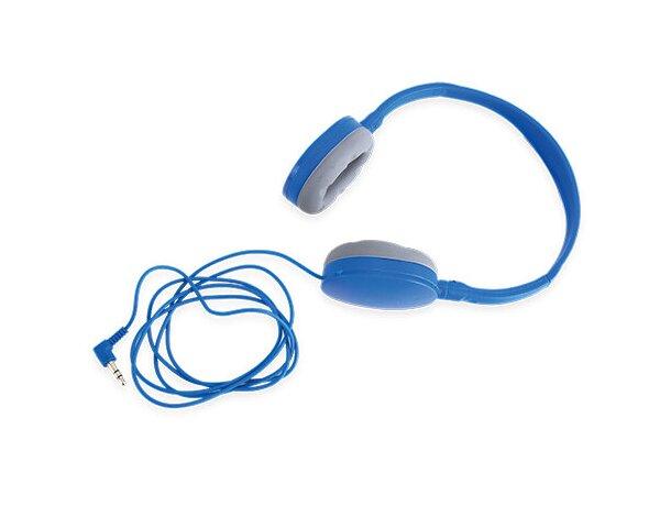 Auriculares ajustables azul