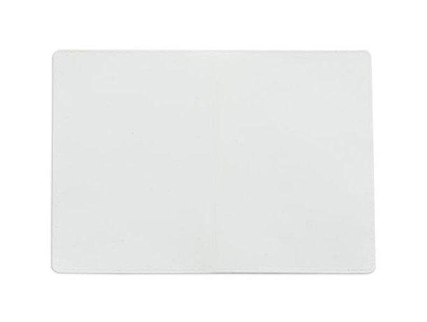 Tarjetero doble con dos bolsillos blanco