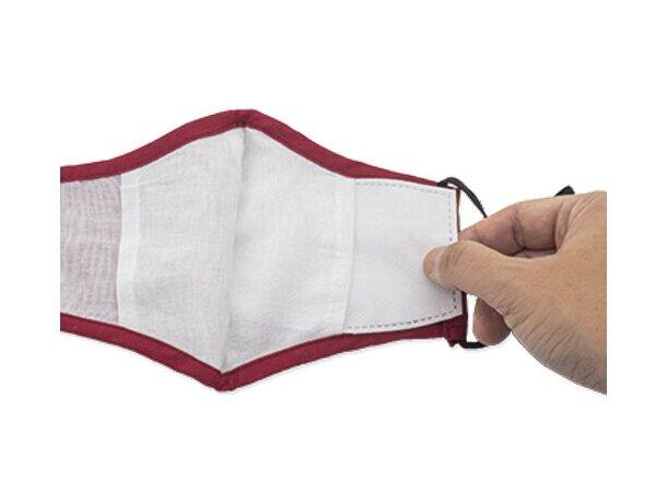 Mascarilla de tela personalizada con filtro de 3 capas españa/negro