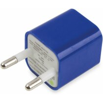 Cargador con adaptador usb en tres colores azul
