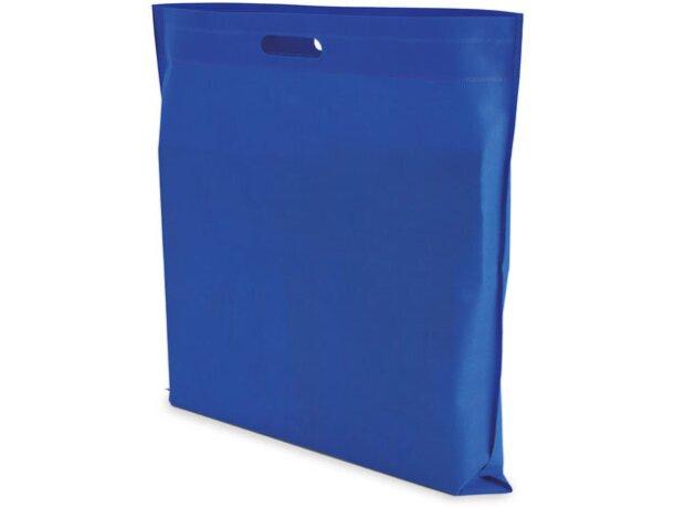 Bolsa cuadrada de non woven personalizada azul royal