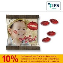 Gominolas con forma de labios personalizada