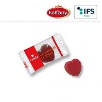 Caramelos con forma de corazón personalizado