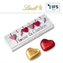 Caja de 5 bombones corazón Lindt personalizada