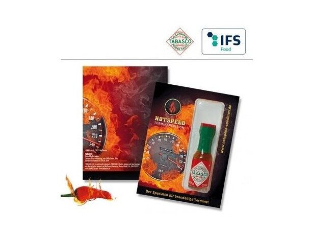 Kit mini de tabasco personalizado