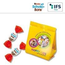 Bolsa con 8 huevos Kinder Schoko Bons personalizada