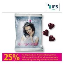 Bolsa gominolas corazón personalizada