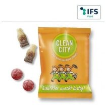 Bolsa con gominolas de fruta ácida personalizada