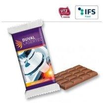 Tableta de chocolate envuelta individual personalizada