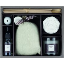 Set de aroma con difusor velas e incienso personalizado