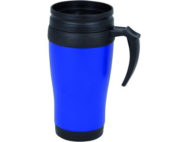 Taza de aluminio térmica azul