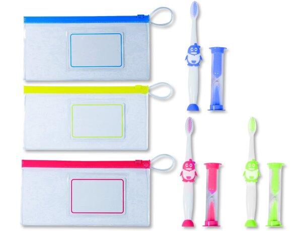 Cepillo de dientes infantil en estuche personalizado