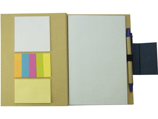 Libreta de cartón con bolígrafo personalizada