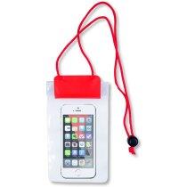 Funda para móvil con doble cierre grabado roja