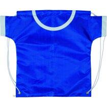 Mochila saco con forma de camiseta azul