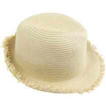 Sombrero de paja con flecos personalizado