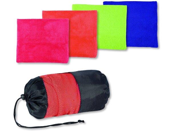 Toalla de microfibra de colores con funda personalizada