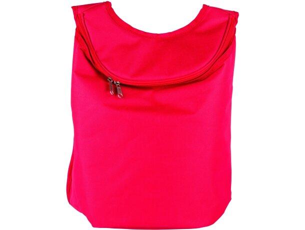 Nevera con forma de mochila roja